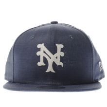New Era Blue 9fifty Linen Felt Snap Caps and Hats