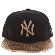 New Era Black & Gold Yankees Visor Shine 9fifty Caps and Hats
