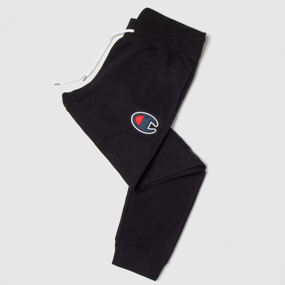Champion Clothing Champion Black Rib Cuff Pants