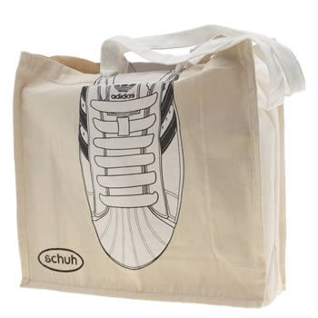 Schuh White & Beige Adidas Reusable Jute Bags