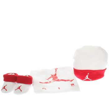 Nike Jordan White & Red Jordan Air Dreams Onesie Accessory