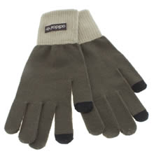 Adidas Khaki Smartphone Gloves Apparel