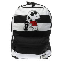Vans Black & White Realm Peanuts Joe Cool Bags