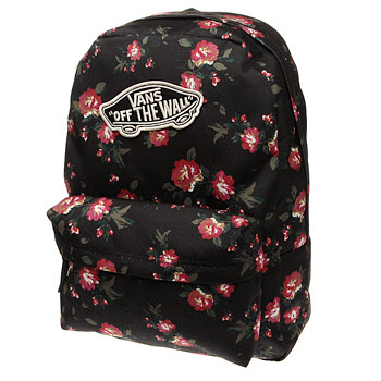 Vans Black & Red Realm Backpack Bags