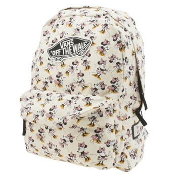 Vans White & Pink Disney Minnie Mouse Backpack Bags