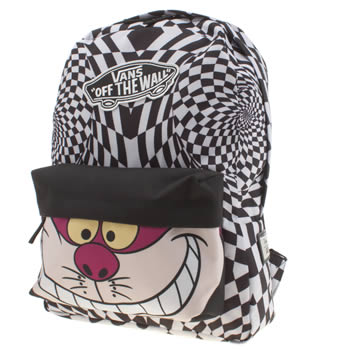 Vans Black & White Disney Backpack Cheshire Cat Bags