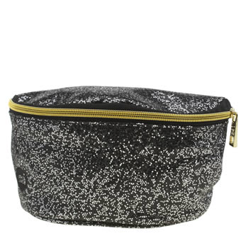 Accessories Mi Pac Black & Silver Perf Glitter Bumbag Bags