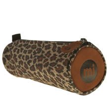 Brown & Black Mi Pac Leopard Pencil Case