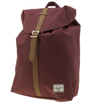Herschel Burgundy Post Mid Volume Backpack Bags