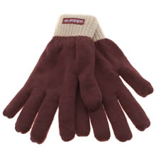 Adidas Beige & Red Padded Glove Apparel
