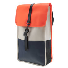 Rains Navy & Orange Backpack Bags