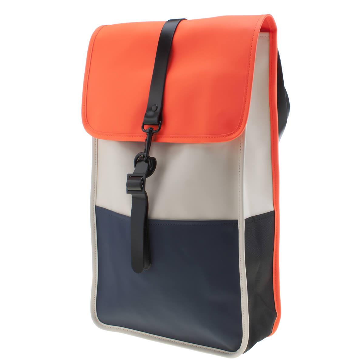 Rains Rains Navy & Orange Backpack Bags