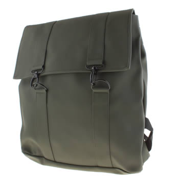 Rains Dark Green Messenger Bags