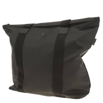 Rains Black Tote Rush Bags