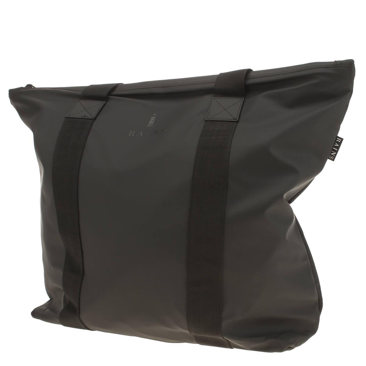 Rains Rains Black Tote Rush Bags