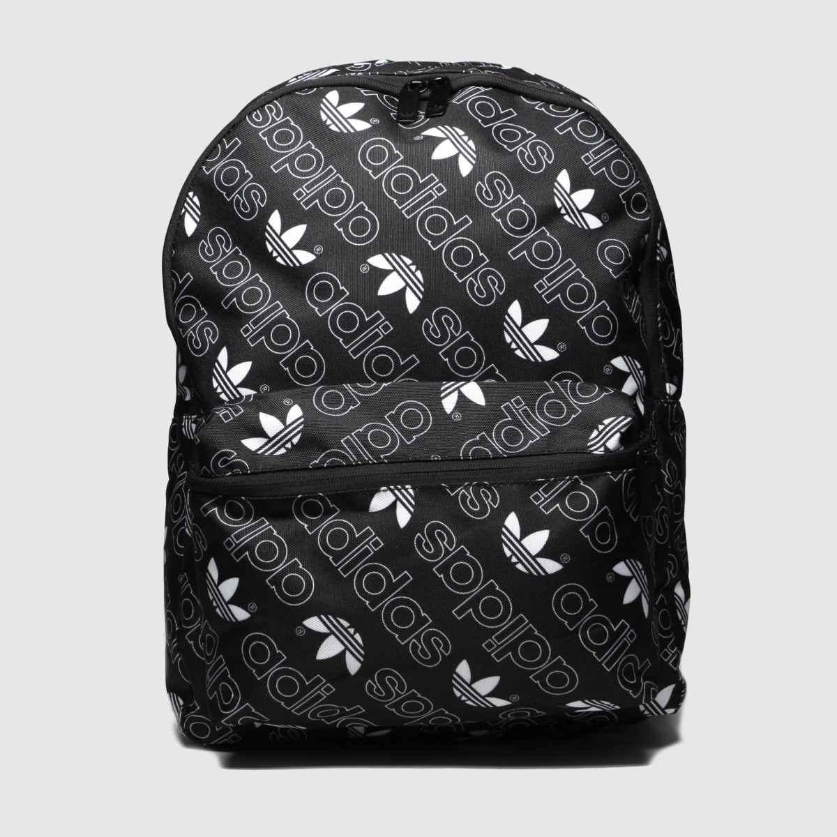 Image of Adidas Black & White Monogram Classic Backpack