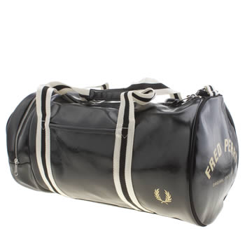 Fred Perry Black Classic Barrel Bags