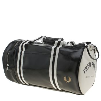 ACCESSORIES FRED PERRY BLACK & WHITE CLASSIC BARREL