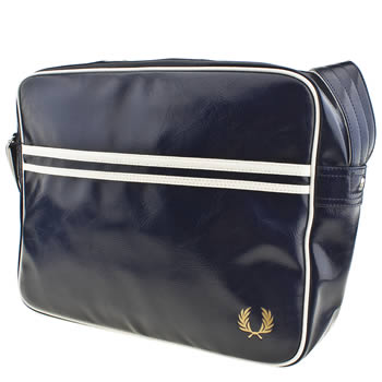 Fred Perry Navy & White Faux Leather Bags