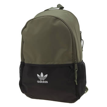 Adidas Black & Green Essentials Backpack Bags