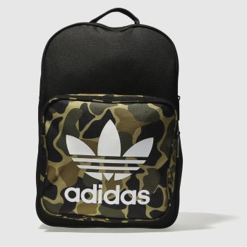 Adidas Black & Green CLASSIC BACKPACK Bags