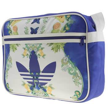 Accessories Adidas White & Blue Airliner Indigo Bags