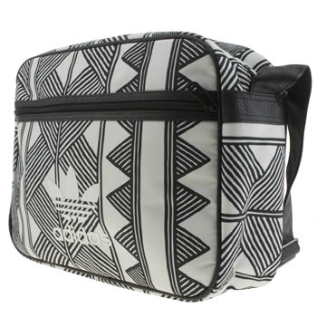Adidas White & Black Airliner Mkx Farm Bags