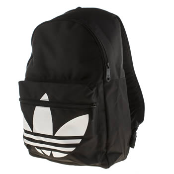 Adidas Black & White Backpack Classic Trefoil Accessory