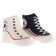 Navy & White Converse Booties