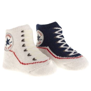 Converse Navy & White Booties Socks