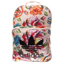 Adidas Pale Pink & Black Floral Classic Backpack Bags