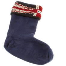 Navy & Red Hunter Orginal Brit Welly Sock