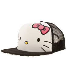 Black & White Vans Hello Kitty Trucker Hat