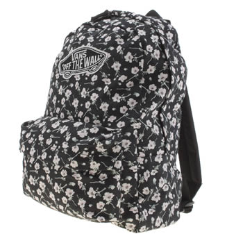 Vans Black & White Realm Backpack Bags