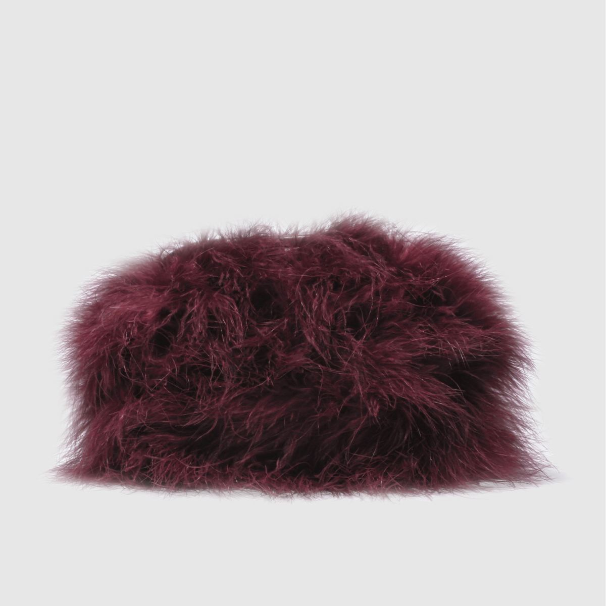 missguided Missguided Burgundy Feather Clutch Bag