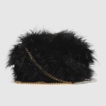 Missguided Black Feather Clutch Bags