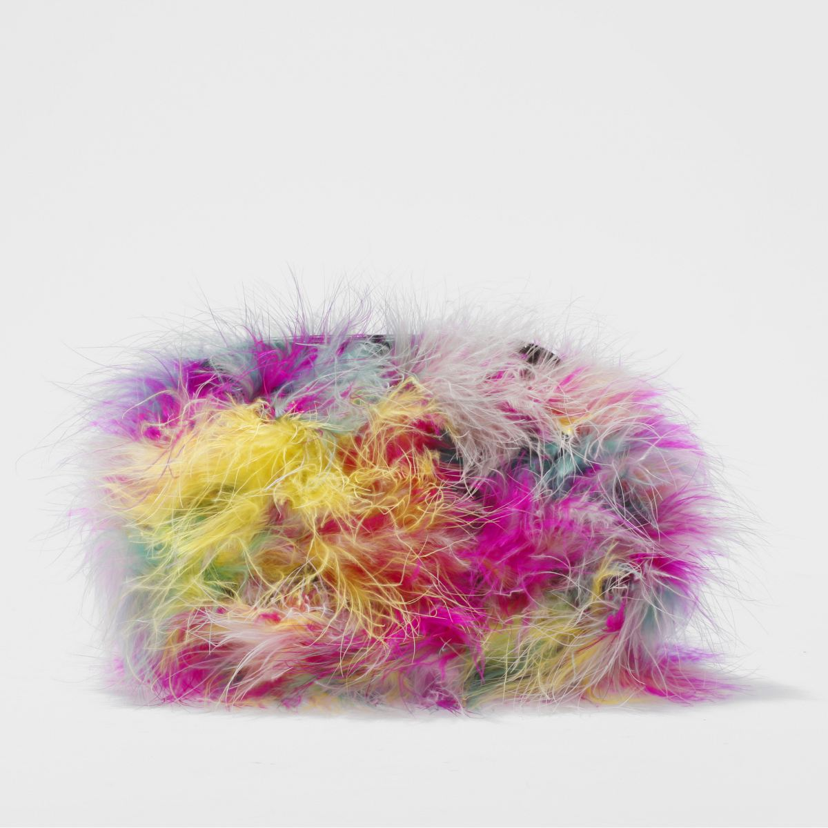 missguided Missguided Pink Feather Clutch Bag