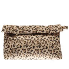 Missguided Beige & Brown Roll Top Clutch Bags