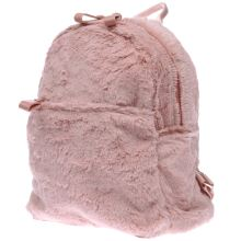 Missguided Pale Pink Faux Fur Backpack Bags