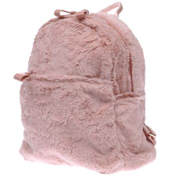 Missguided Pink Faux Fur Backpack Bags