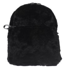 Missguided Black Faux Fur Backpack Bags