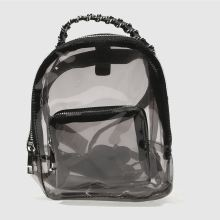 Missguided Black Perspex Backpack Bags