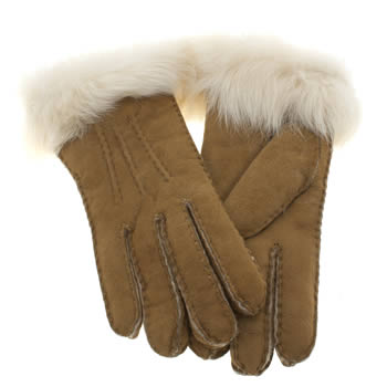 Accessories Ugg Australia Tan Classic Toscana Glove Apparel