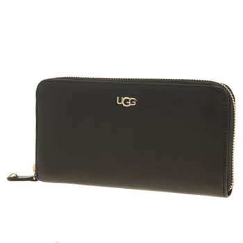 Accessories Ugg Australia Black Rae Zip Around Wallet Bags