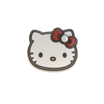 Accessories Jibbitz White & Red Hello Kitty Pearl Face Shoe Accessories
