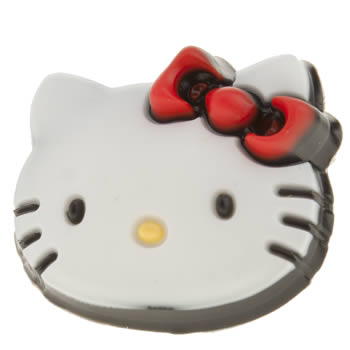 accessories jibbitz white & red hello kitty face