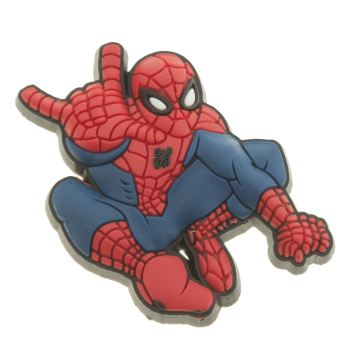ACCESSORIES JIBBITZ RED LEAPING SPIDERMAN
