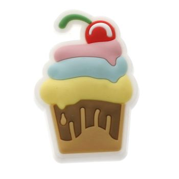 Jibbitz Green Cupcake Charm Shoe Accessories