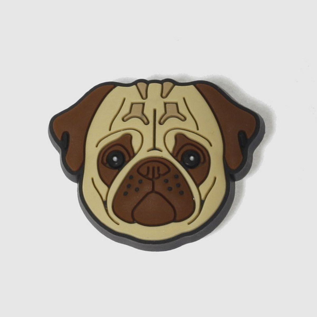 jibbitz Jibbitz Beige & Brown Pug Face