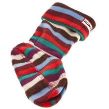 Hunter Multi Kids Fleece Welly Socks
